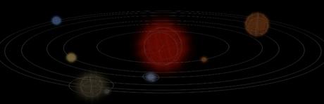 css3加js做一个简单的3D行星运转效果实例代码