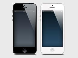 苹果iphone 5样机PSD