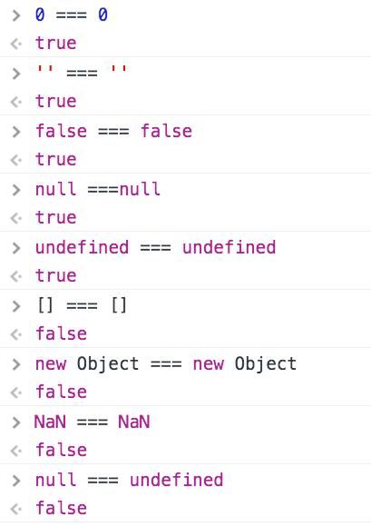JavaScript中三个等号和两个等号你了解多少